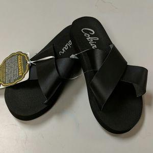 Cobian Kara black sandals
